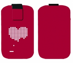 Pouzdro FRESH velikost iPhone Heart red (125x70x10mm)