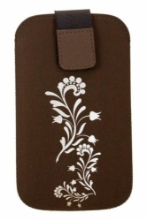 Pouzdro FRESH velikost iPhone FLOWER brown (125x70x10mm)