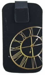 Pouzdro FRESH velikost iPhone CLOCK gold (125x70x10mm)